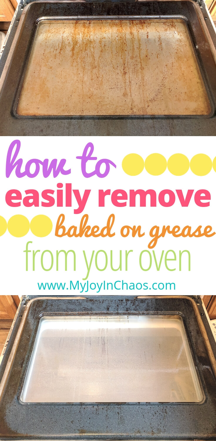 How to clean your oven quickly and easily. Remove baked on grease from your oven door and make the oven glass sparkle again.