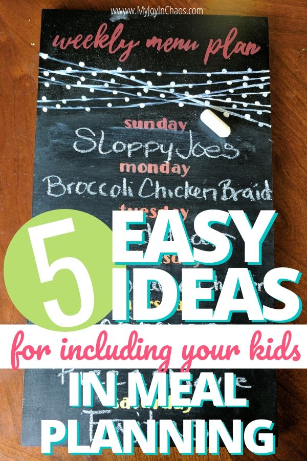 How can I get my kids to help in the kitchen? Teach your kids to meal plan and make grocery lists with these simple ideas. | My Joy in Chaos