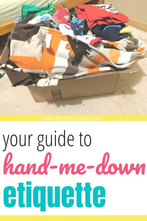 What is proper hand-me-down ETIQUETTE?