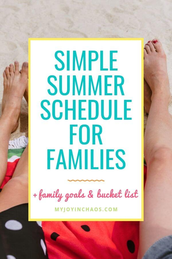 Daily Summer Routines to help you enjoy your days and keep boredom at bay | My Joy in Chaos