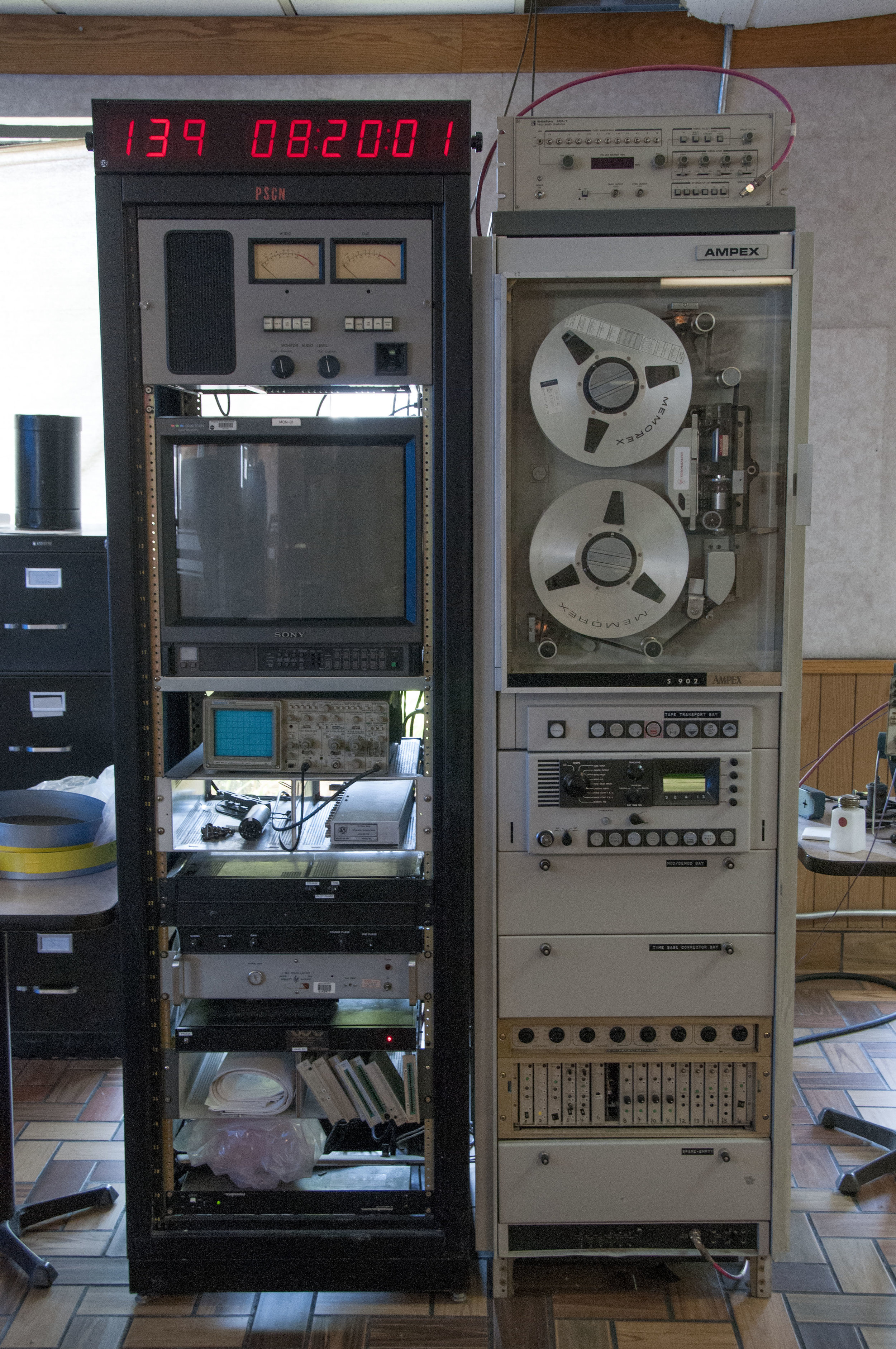 The machine that reads the Ampex tapes.