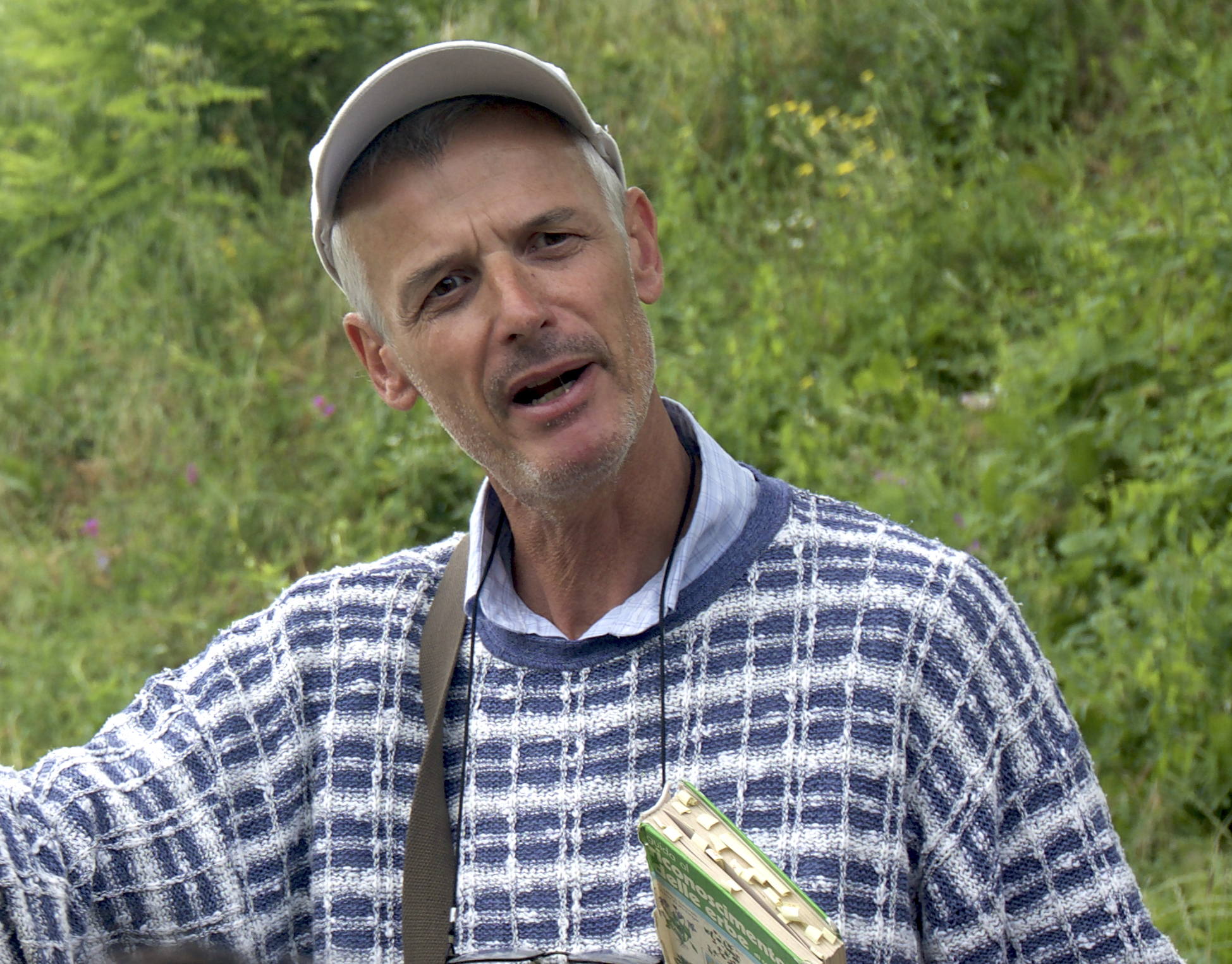Local biologist, Enrico Rivella, who selected Rivetto winery as a case study research project for biodiversity in the Langhe.