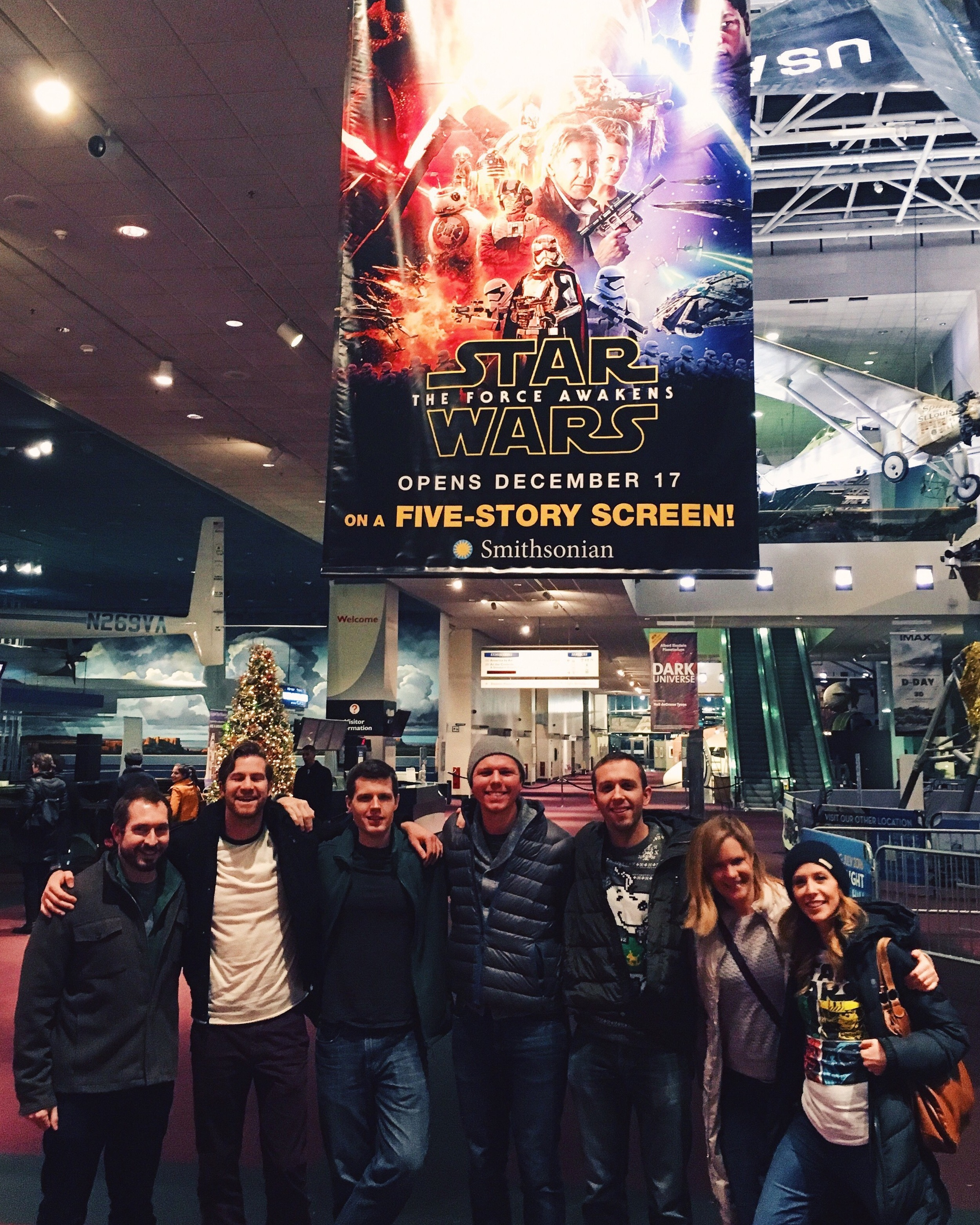 Star Wars: The Force Awakens midnight premier at the Air & Space Museum ( Instagram )