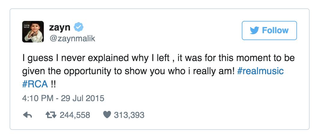An example of a celebrity subtweet ( Twitter )
