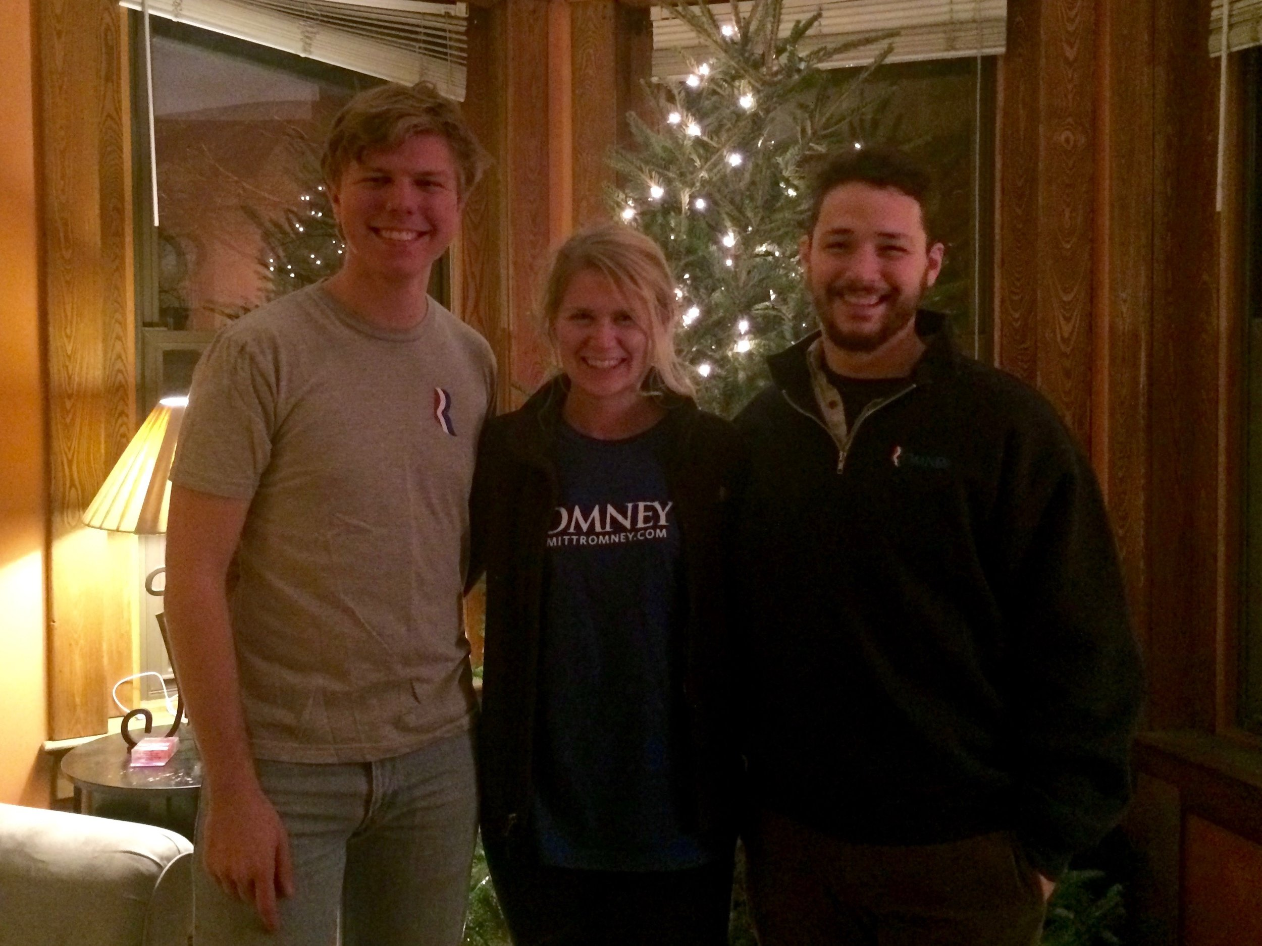 Post-election Romney Reunion with Karl, Kristine, and Michael.