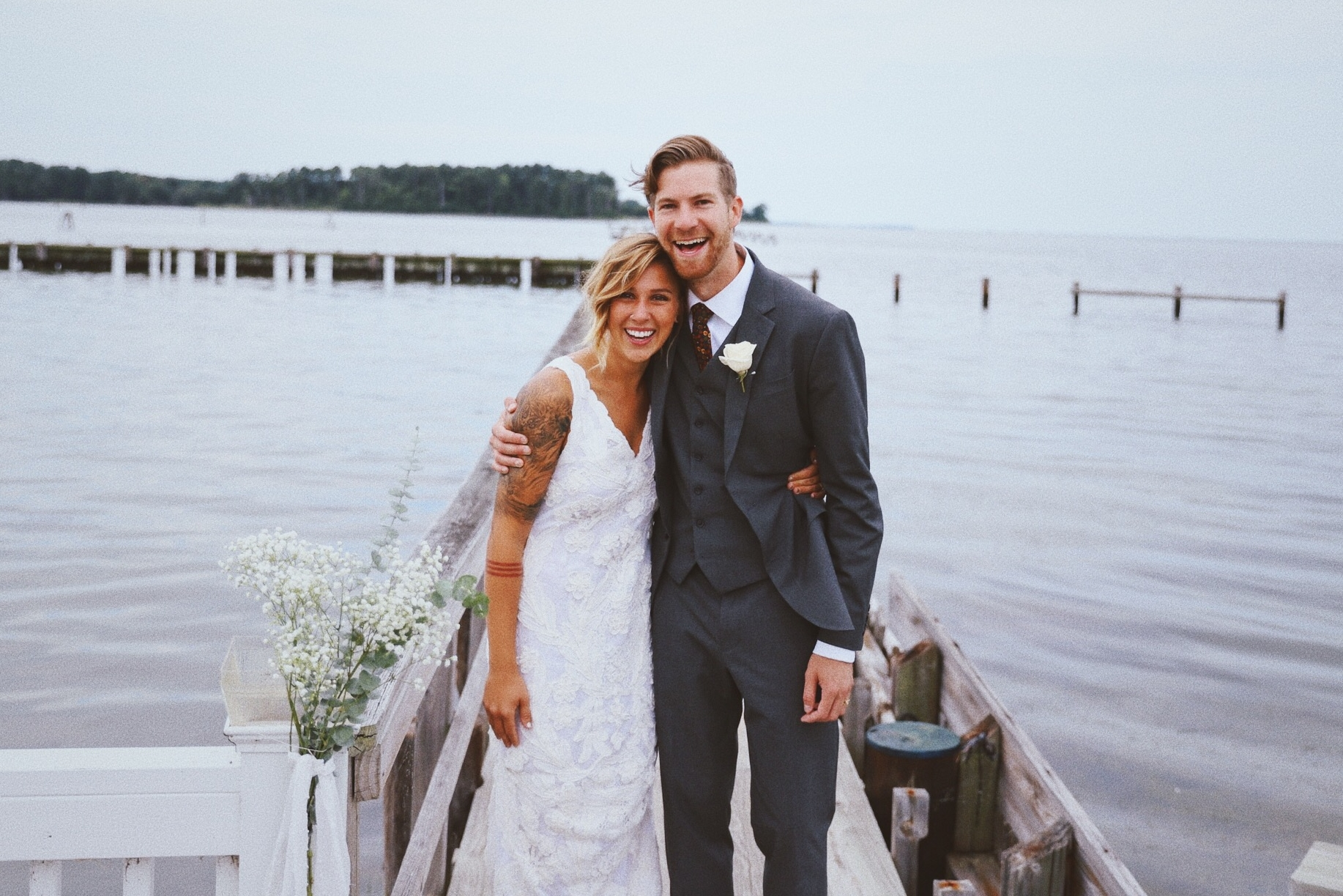 [Oh and also this week...Andrew and Lauren got married...