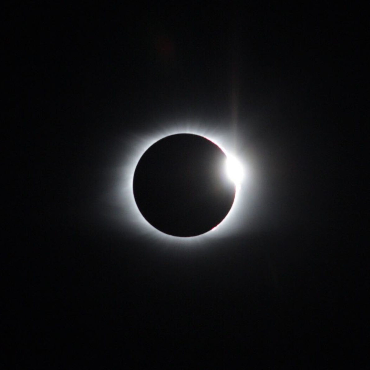 One of Karl's shots from the eclipse on 8/21/17 ( Instagram )