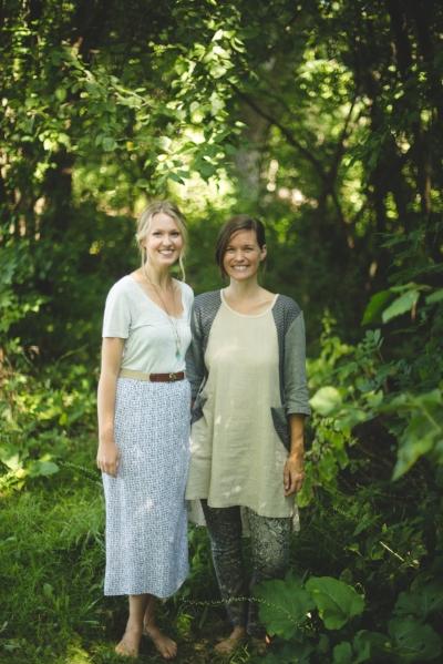 Christie Kruisenga on the left with me, Kara McNabb. Photo by Matt Fowler.