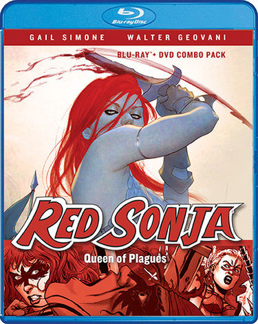 """Gail Simone's Red Sonja is an absolute winner — powerful, thrilling stuff that builds up so much momentum you won't ever want it to end. Richly textured action-adventure with an unforgettable heroine."" – Kurt Busiek (Astro City, Avengers)  Red Sonja, the She-Devil with a Sword, intends to pay back a blood debt owed to the one man who has gained her respect... even if it means leading a doomed army to their certain deaths! Who is Dark Annisia, and how has this fearsome warrior accomplished what neither god nor demon has been able to do: force Sonja to her knees in surrender? An epic tale of blood, lust, and vengeance, Queen Of Plagues takes Red Sonja from the depths of her own grave to the heights of battlefield glory.  From Gail Simone (Batgirl, Birds of Prey) and Walter Geovani (Vampirella, Witchblade), based on the comic series originally published by Dynamite ( learn more here ), Red Sonja: Queen Of Plagues gives the iconic fantasy heroine a fresh new attitude! And now, you can see it all brought to life in this animated comic, starring Misty Lee (Ultimate Spider-Man)!"