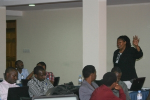 Conducting a government mobile tech policy workshop in Rwanda