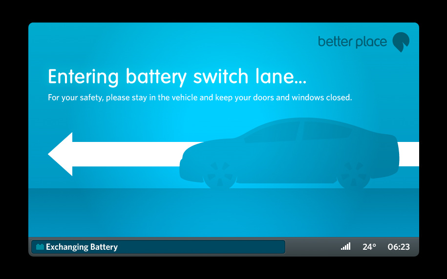 Better Place battery switch display