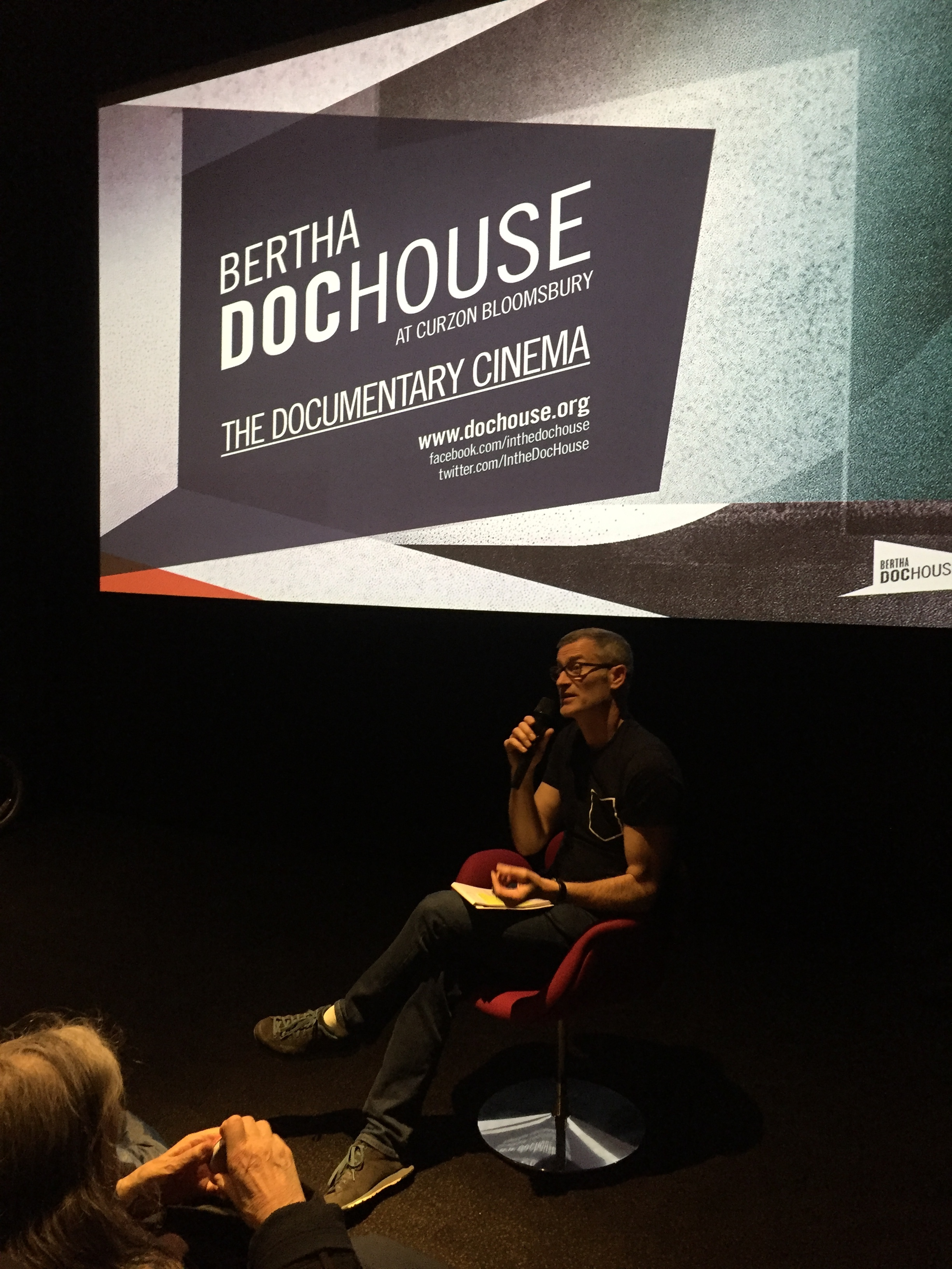 Discussing  1916: Irish Rebellion  screening at Bertha DocHouse, Curzon, Bloomsbury - April 2016   (Photo: Kelly O'Connor)