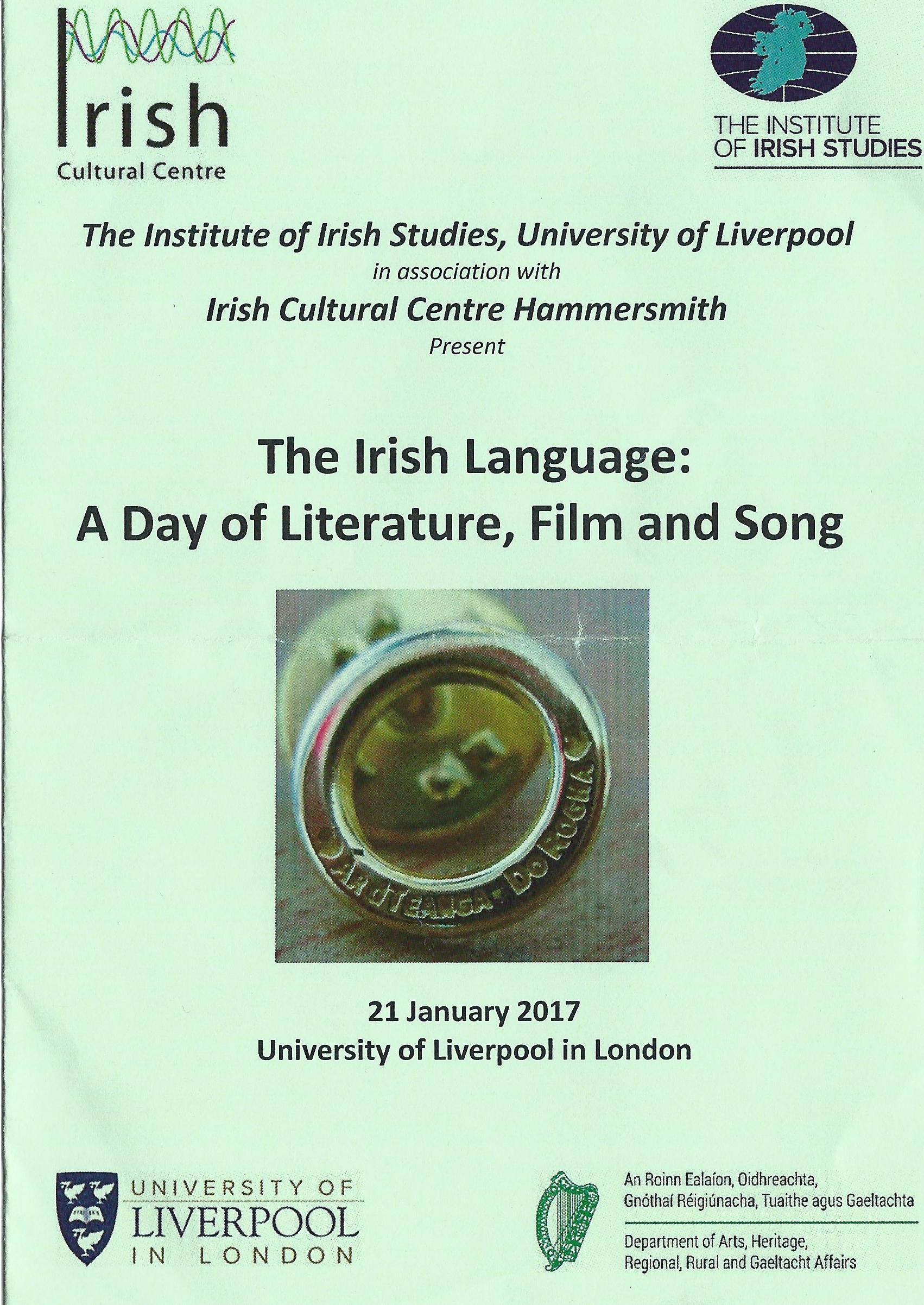 Programme for the day (Designed by Oorothy Lynch)