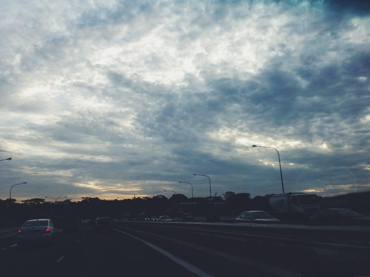 Moody clouds on my way to the Night Safari