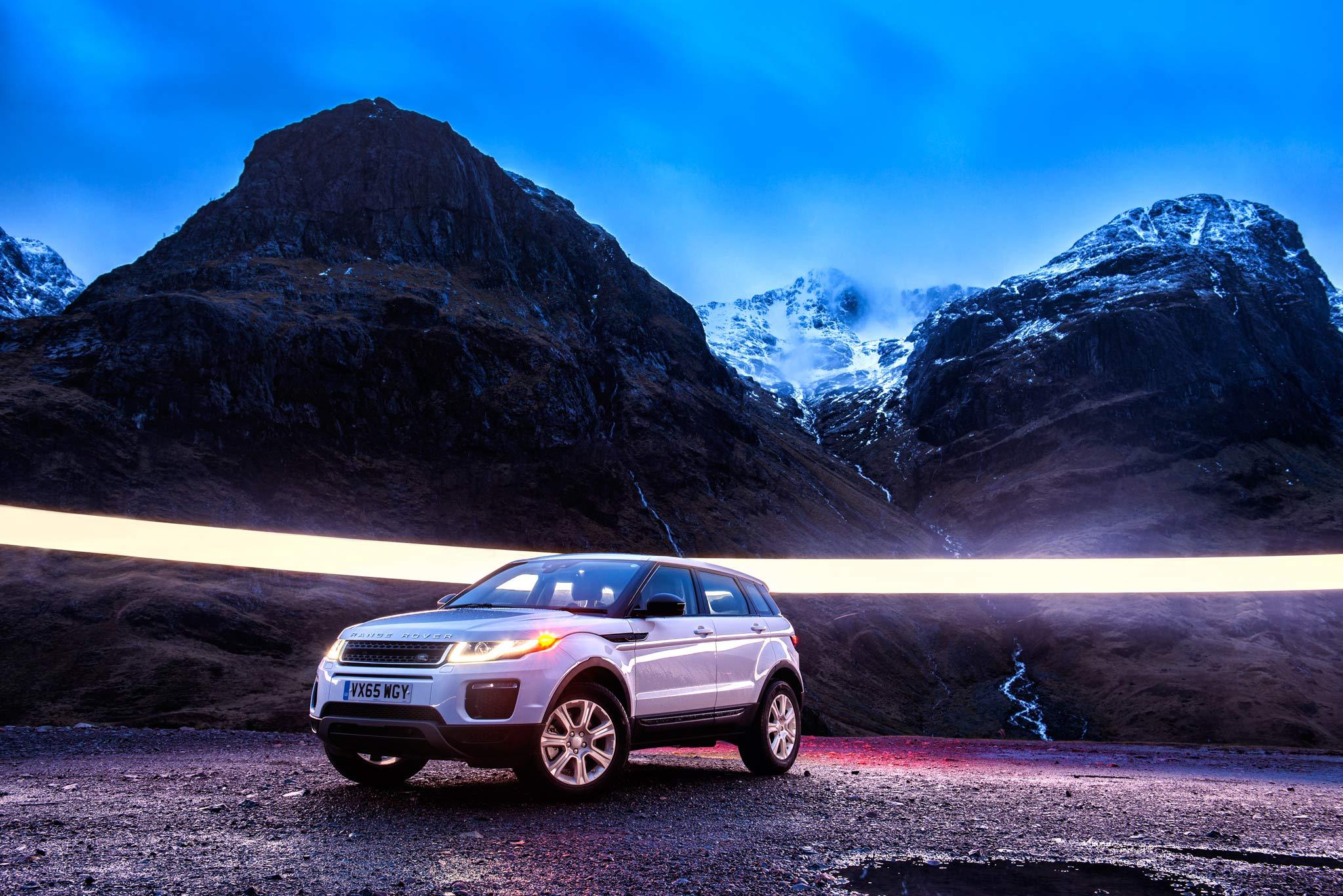 Land Rover Evoque - Glencoe. Image © Dean Wright Photography
