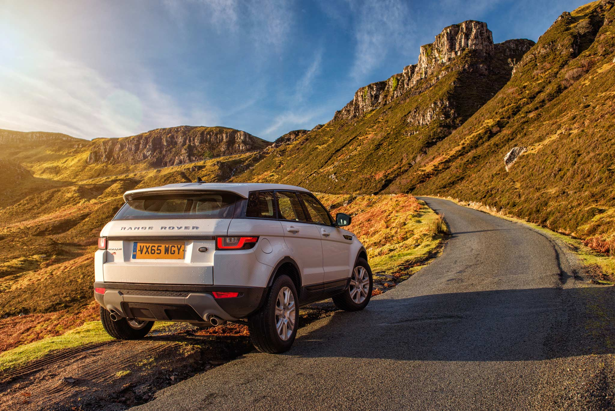 Land Rover Evoque - Quiraing, Skye. Image © Dean Wright Photography