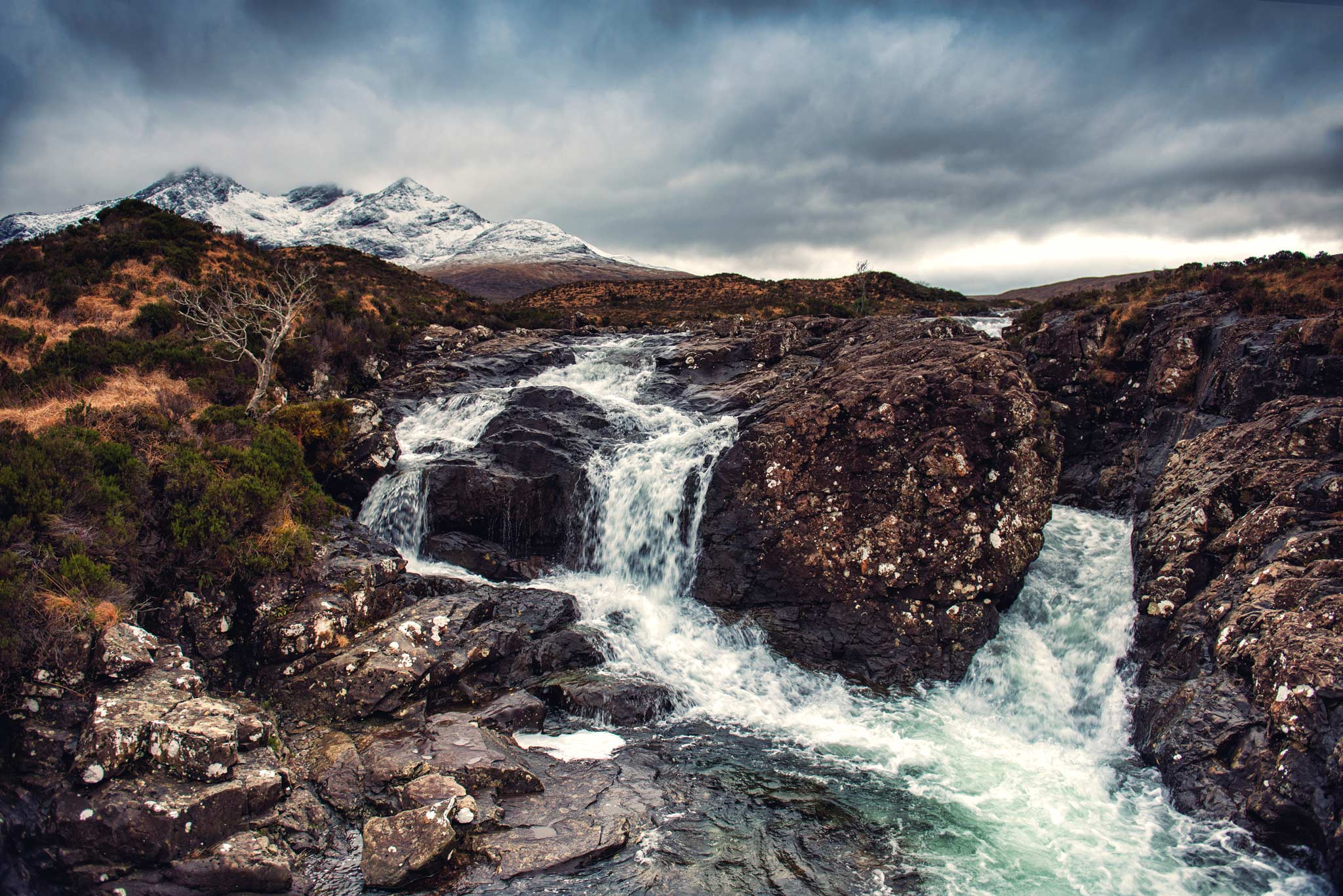 Sligachan Waterfalls - Skye. Image © Dean Wright Photography