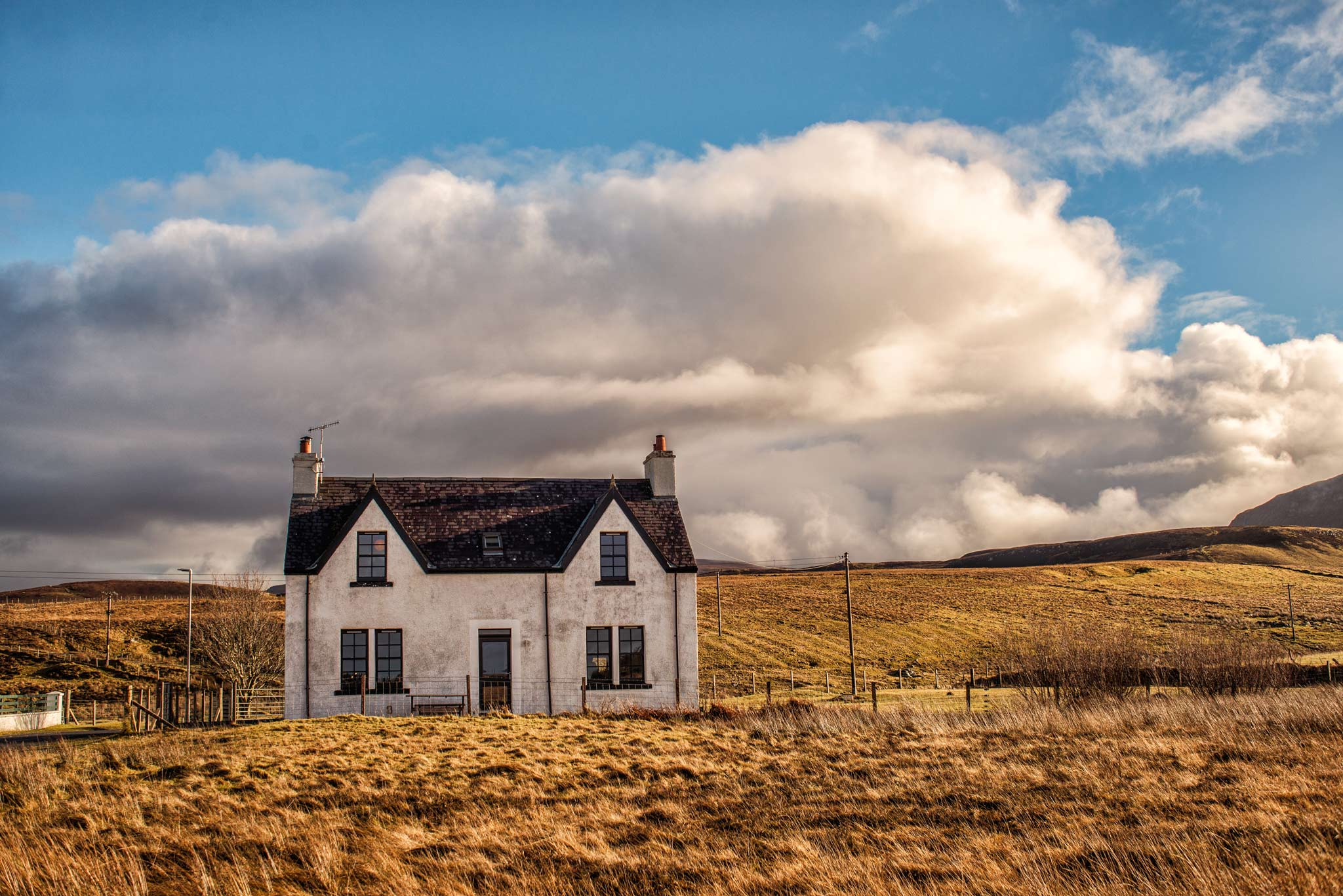 Airbnb  H ouse at Kilmuir - Skye. Image © Dean Wright Photography