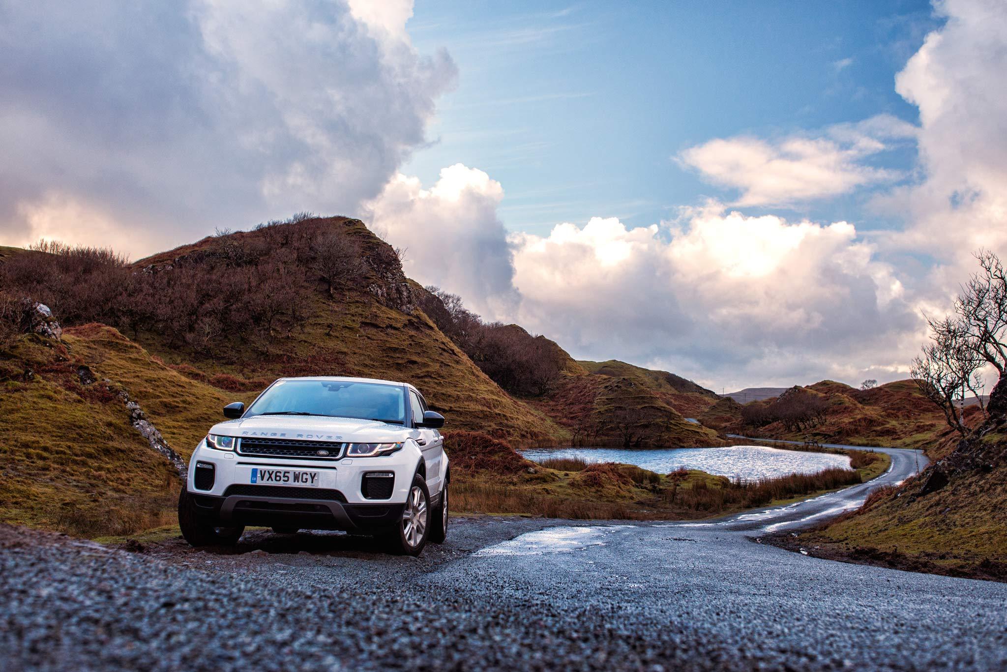 Land Rover Evoque - Fairy Glen, Skye. Image © Dean Wright Photography