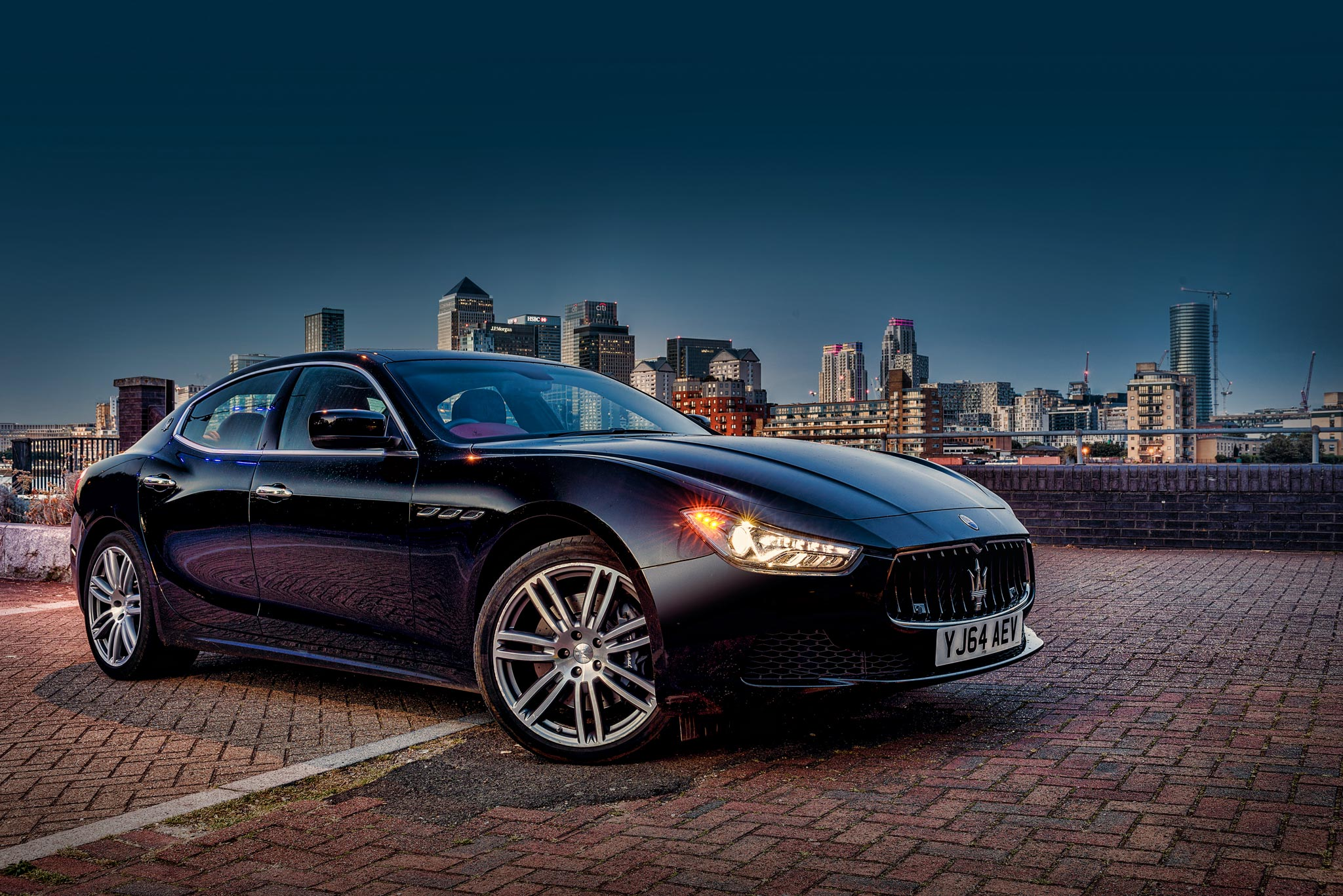 Maserati Ghibli City of London backdrop