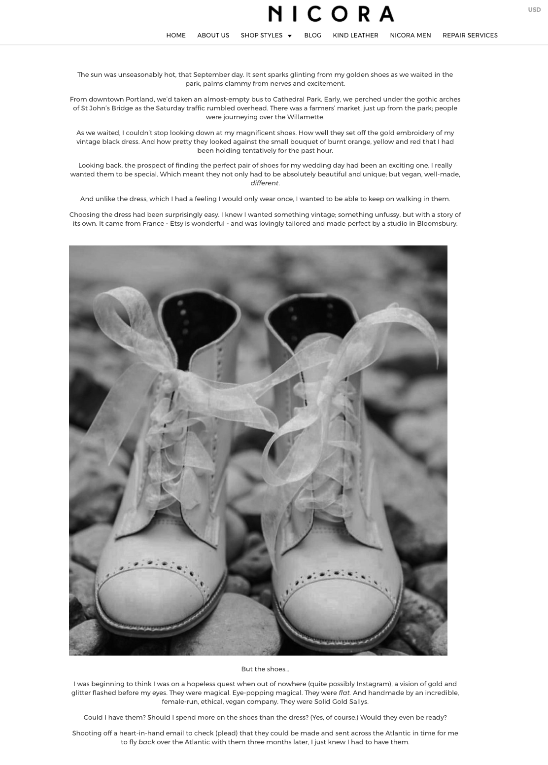 Nicora. Fashion, Blog, Content.    It's not often you get to work for a brand you love  and  have free reign on the brief... so I was thrilled to work with ethical footwear brand, Nicora, on their new content strategy and write a piece about my experience with their beautiful handmade shoes.