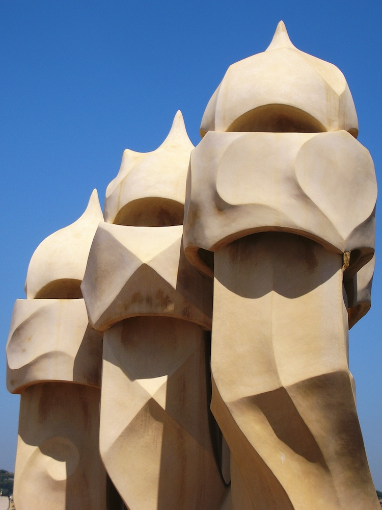 Gaudi chimneys