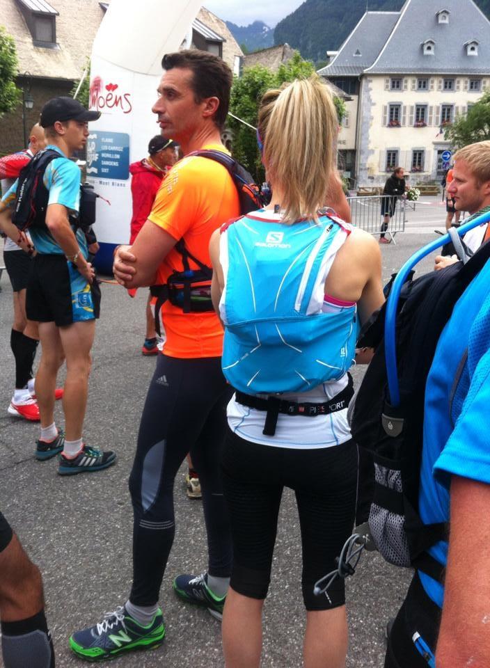 Getting ready for the race! Wearing Salomon S-Lab Adv Skin 3 12 set, Agile tank, Exo 3/4 compression leggings, Speedcross 3's   Photo: Nikki Barnard