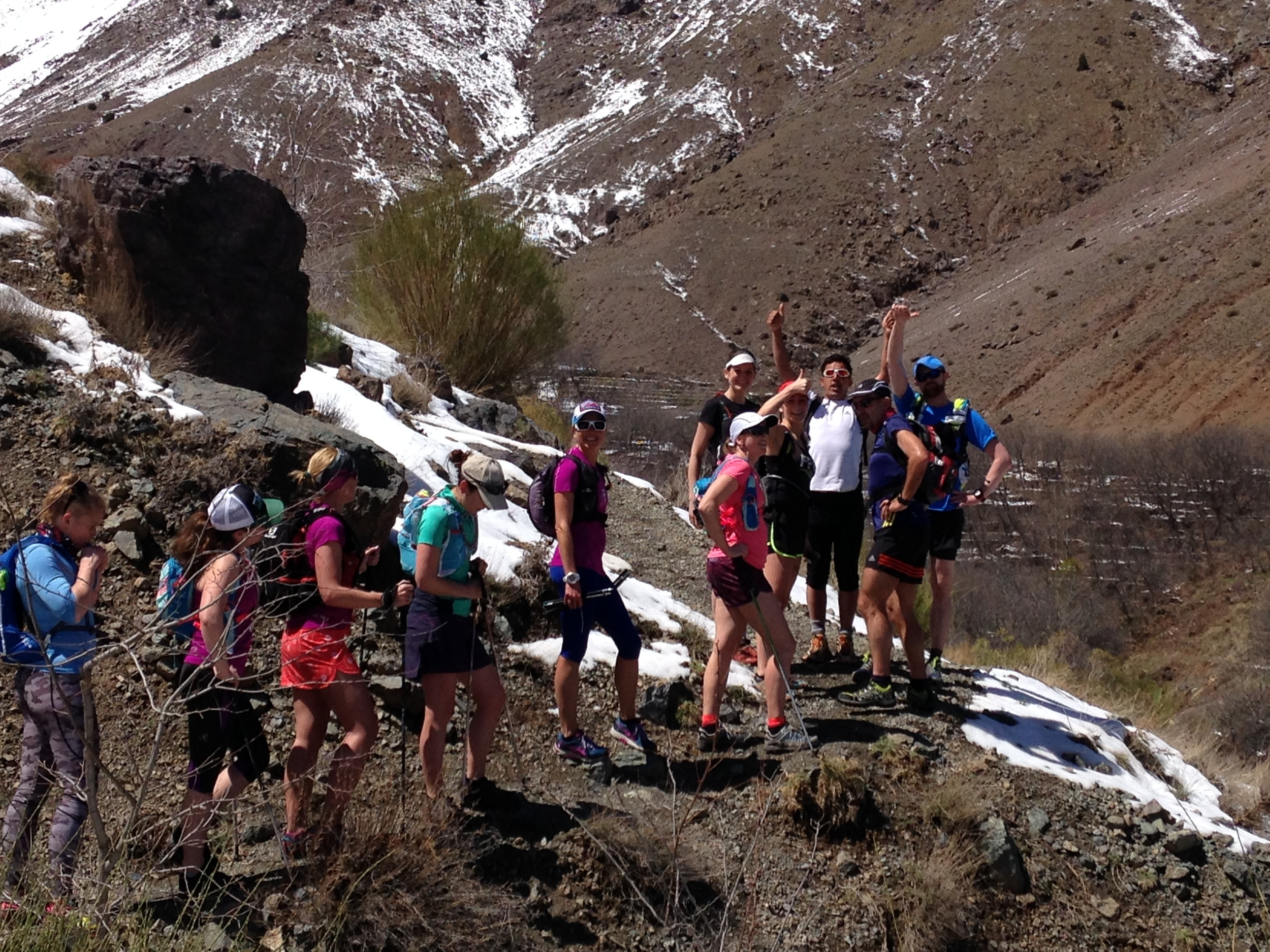 Our team with our Berber guide on the first running day.