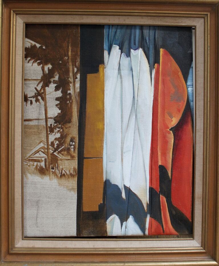 View | Oil on Canvas and Antique Frame 2012.jpg