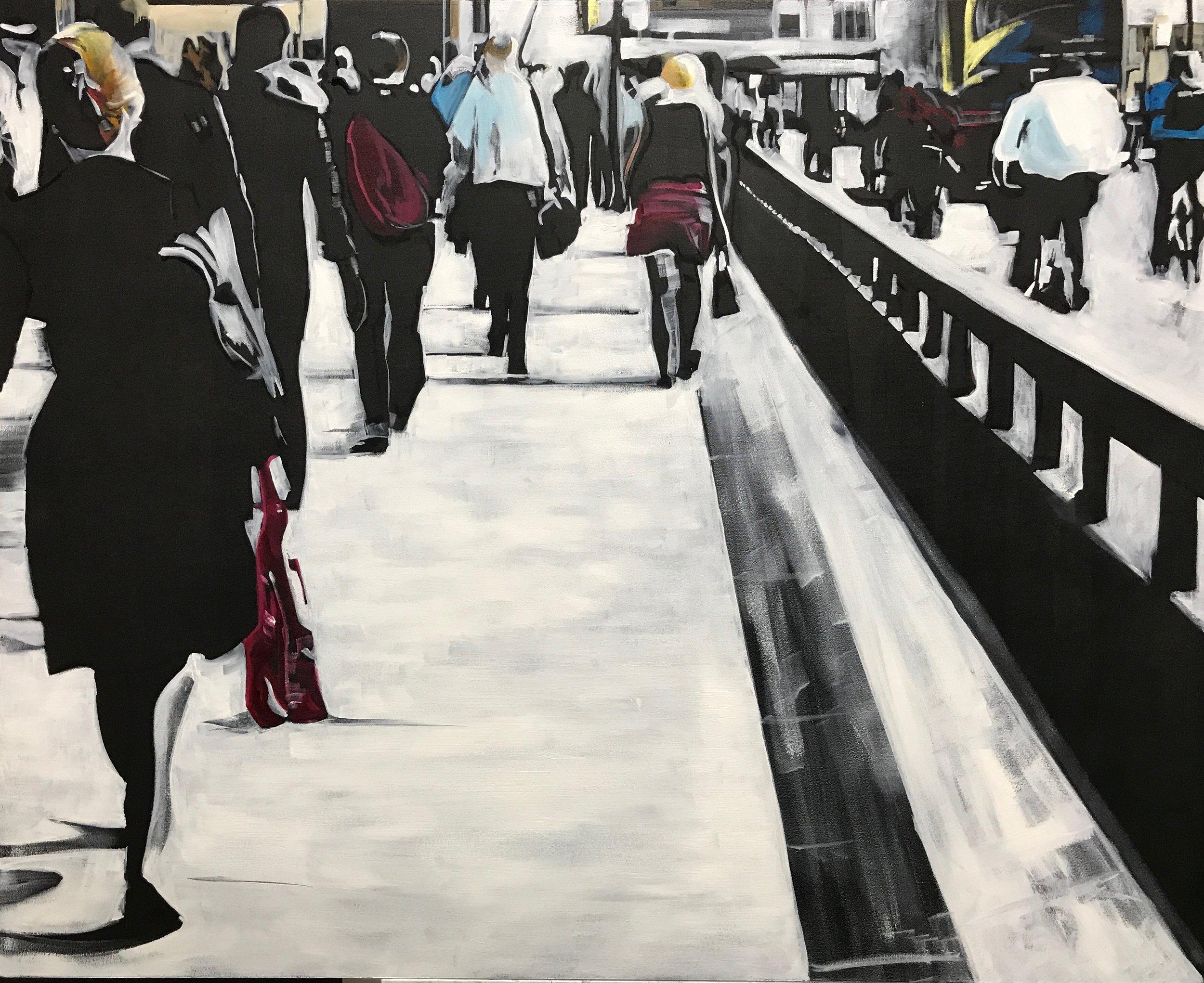 Back Again - Oil on Canvas. 80 x 100cm