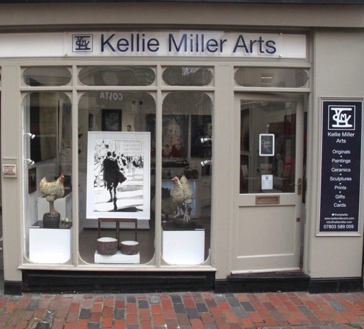 Thrilled to see my charcoal drawing in the window @kelliemillerarts  Just in time for my charcoal workshop at Cass Art next week.