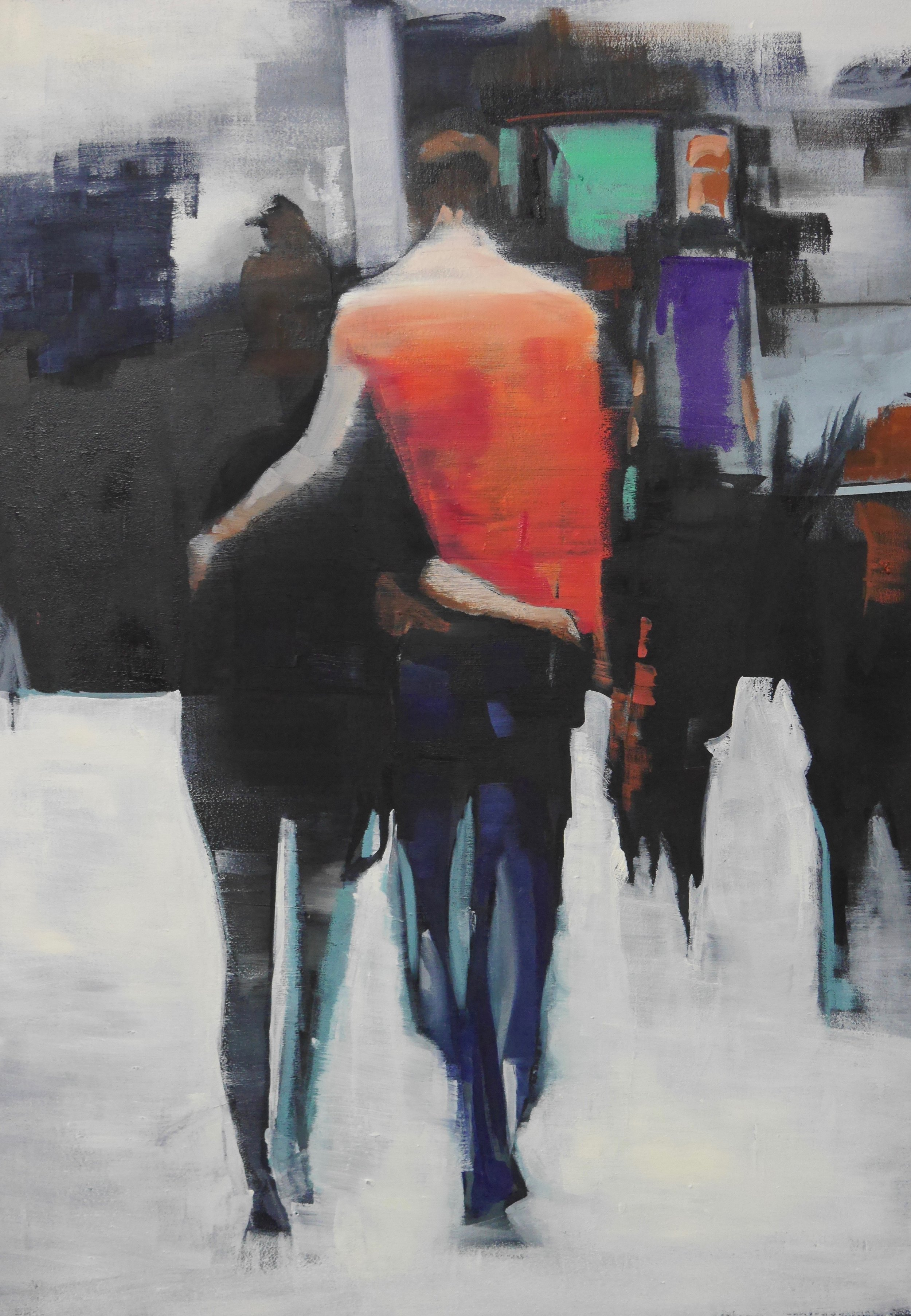 CLOSER NOW OIL ON WOODEN PANEL. 67 X 49
