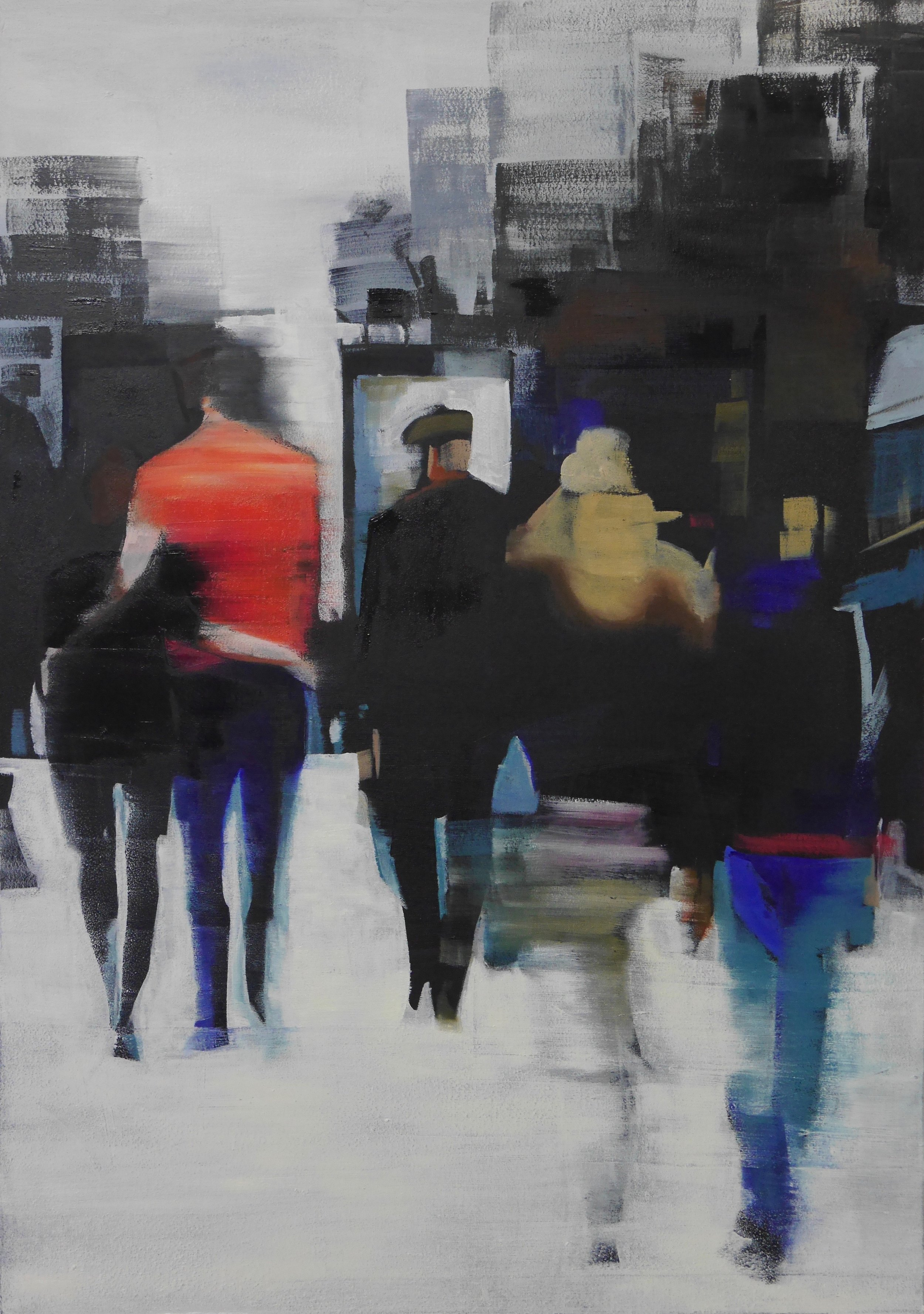 TOGETHER NOW  67 X 49 OIL ON WOODEN PANEL