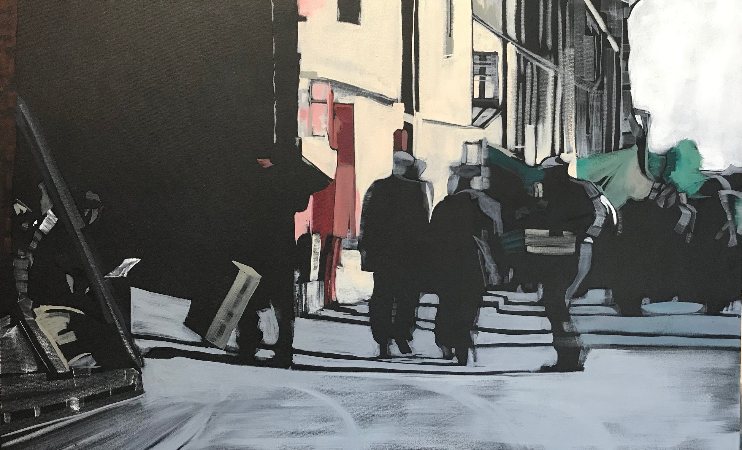 TIME GOES BY OIL ON CANVAS. 70 X 113