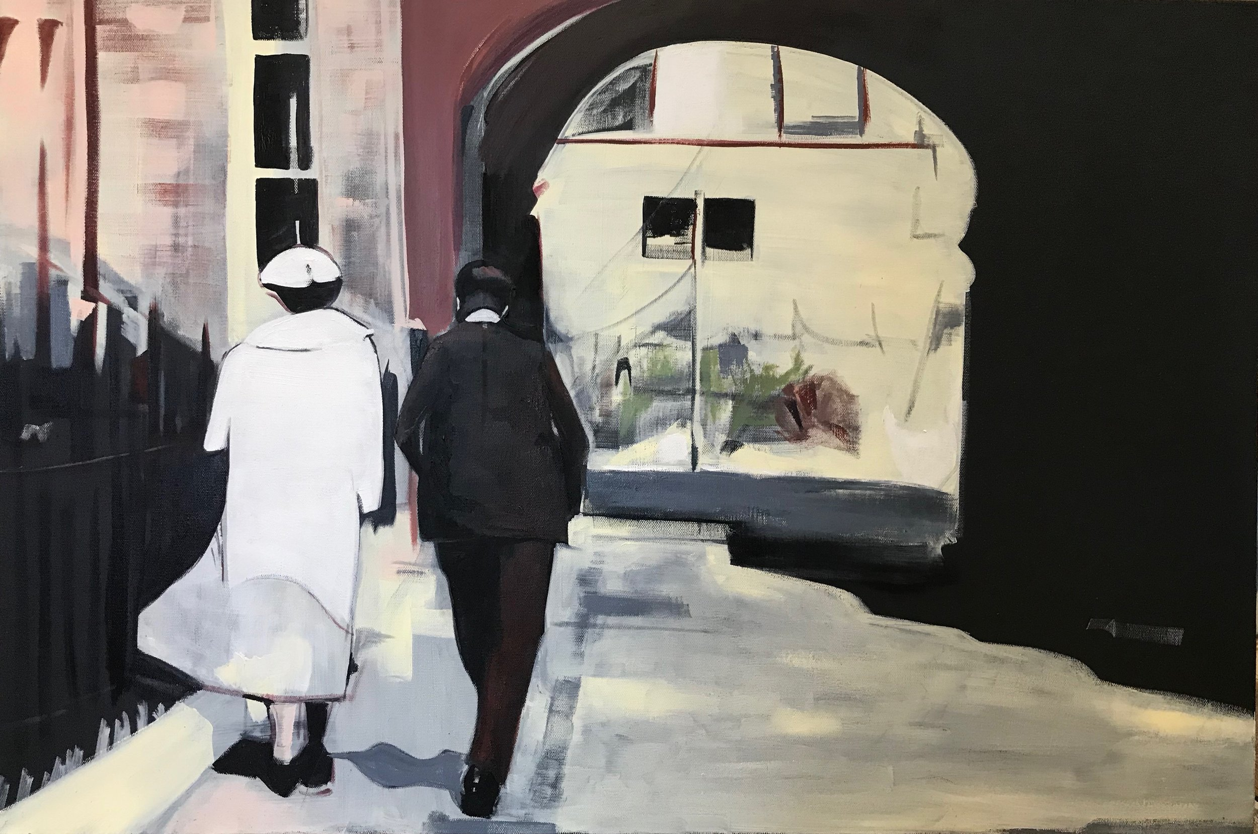 WALK THIS WAY. OIL ON CANVAS. 60 X 90