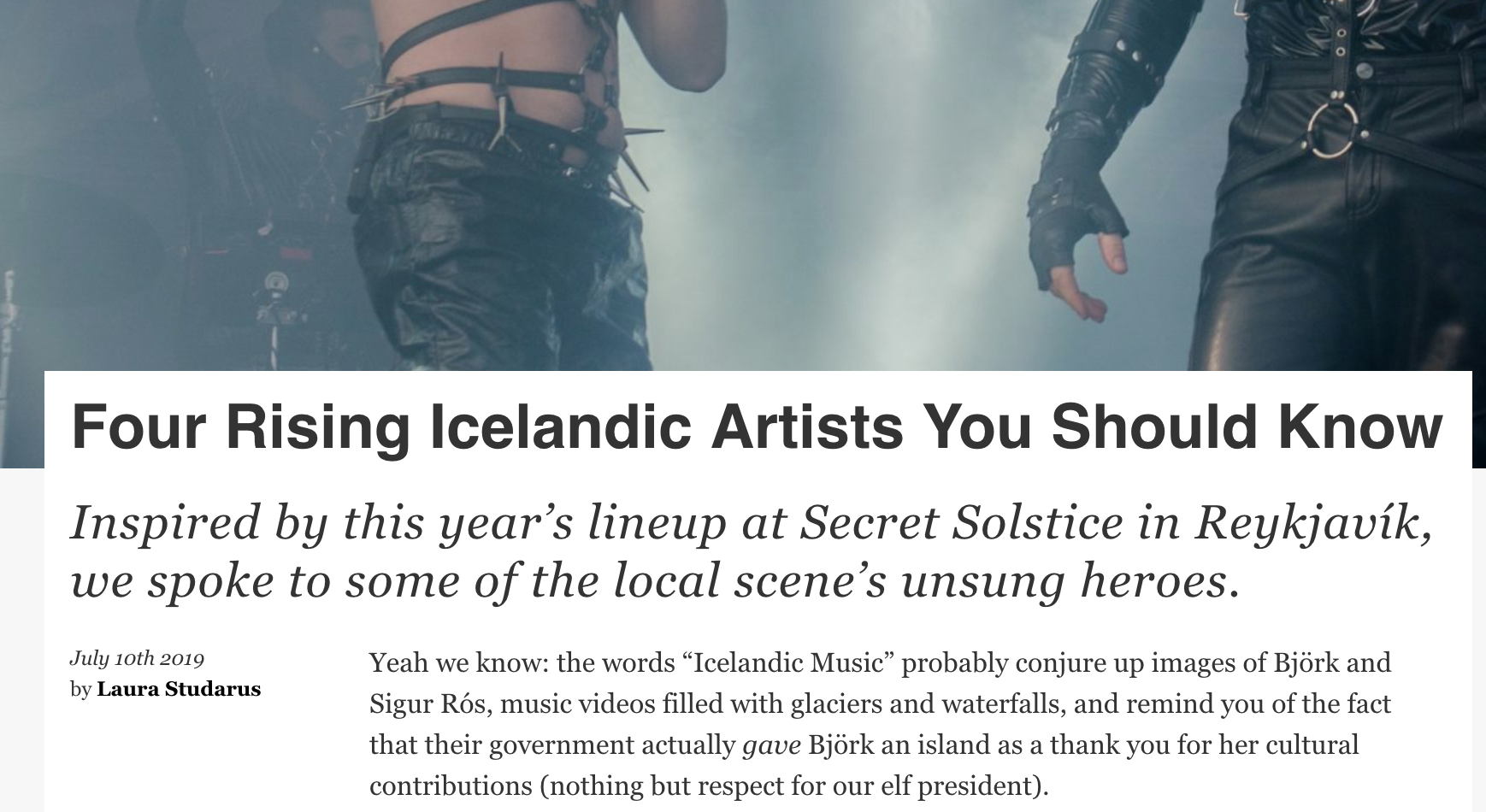 Four Rising Icelandic Artists You Should Know