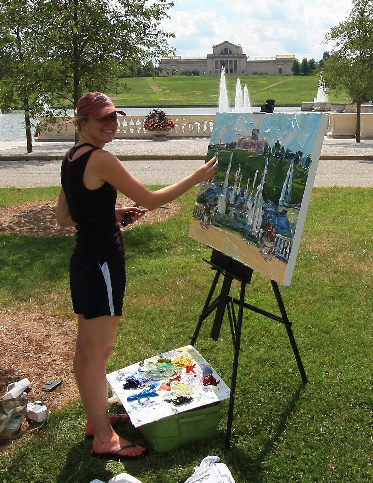 Jodie Maurer, painting Plein Air