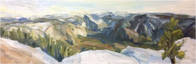 Completed painting of Yosemite: Jodie Lee Maurer