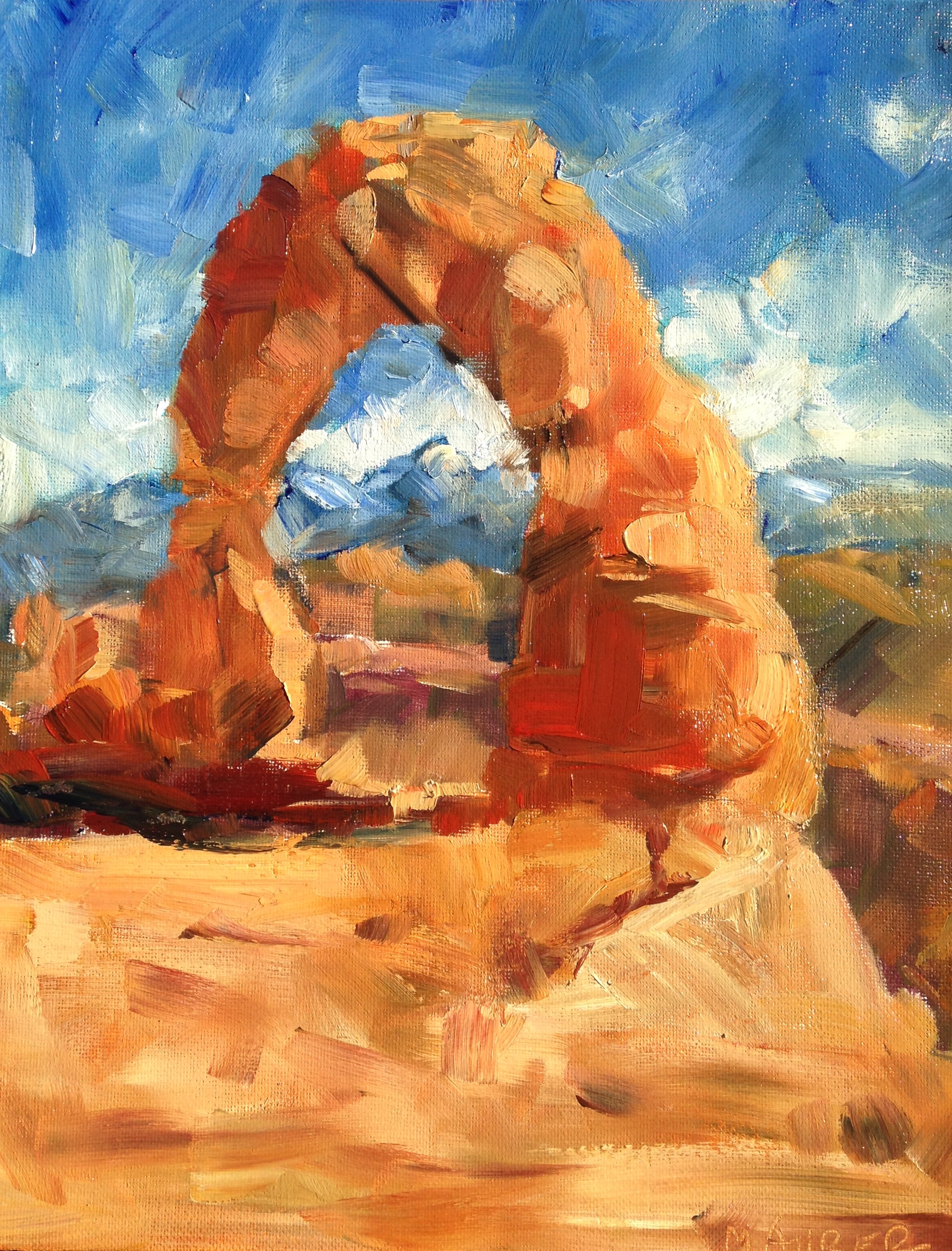 Delicate Arch, Arches NP, UT 14x11in, $245.jpg