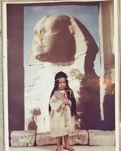 Dr. Sarah was an expat growing up. Here is a picture from one of her family's stints in Cairo, Egypt.