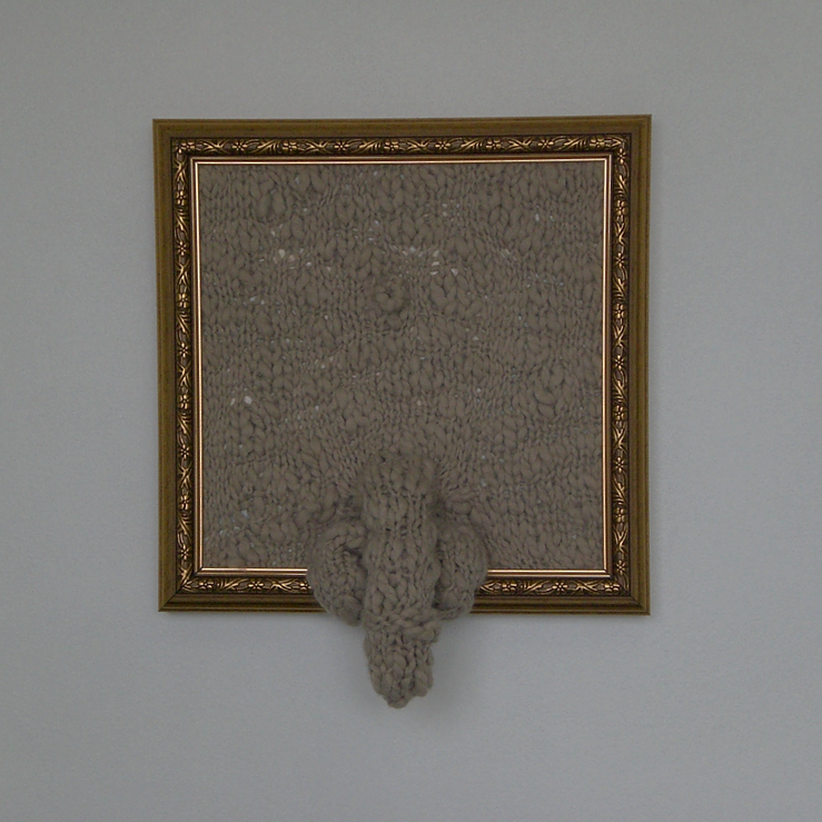 Lada Dedic Banal Knitted object, 2007 450 x 450mm