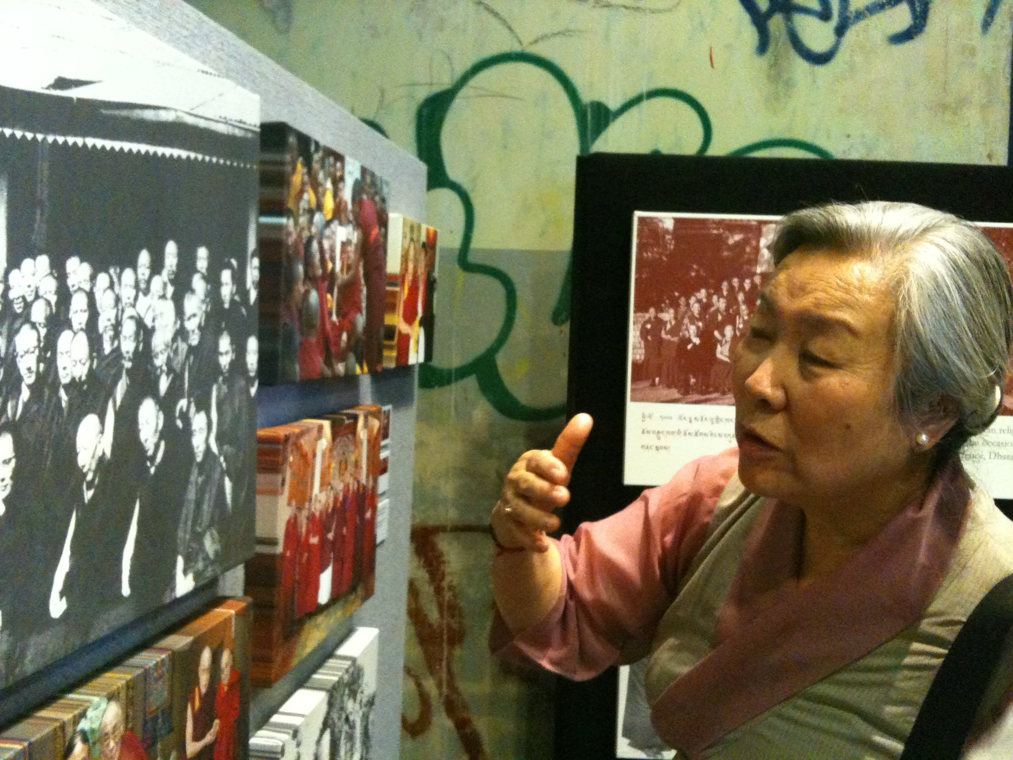 Jetsun Pema, The Dalai Lama's sister viewing The Dalai Lama's Journey Exhibition   Festival of Tibet, Brisbane, QLD, 2011