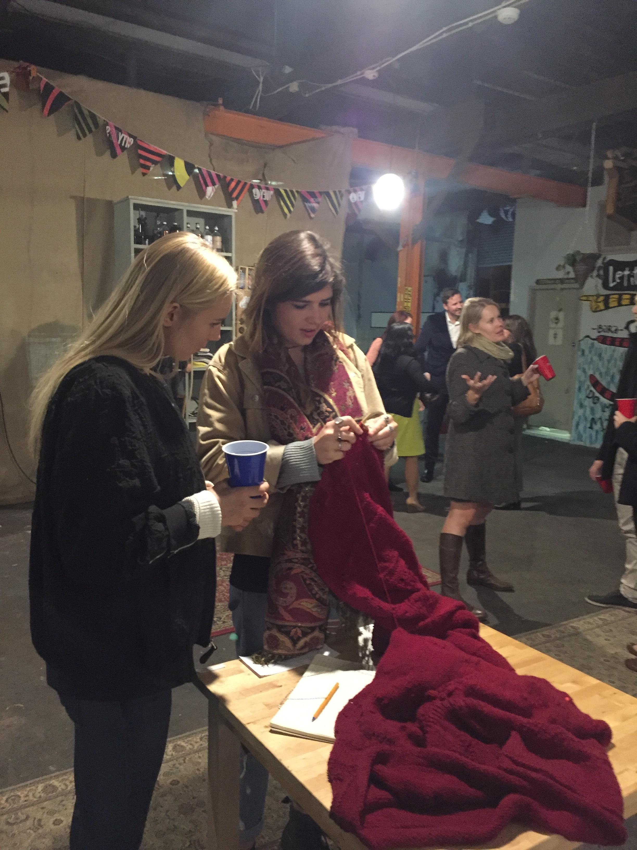 Knitted Journal, Vivid Sydney -Staff from Amnesty International, 2016