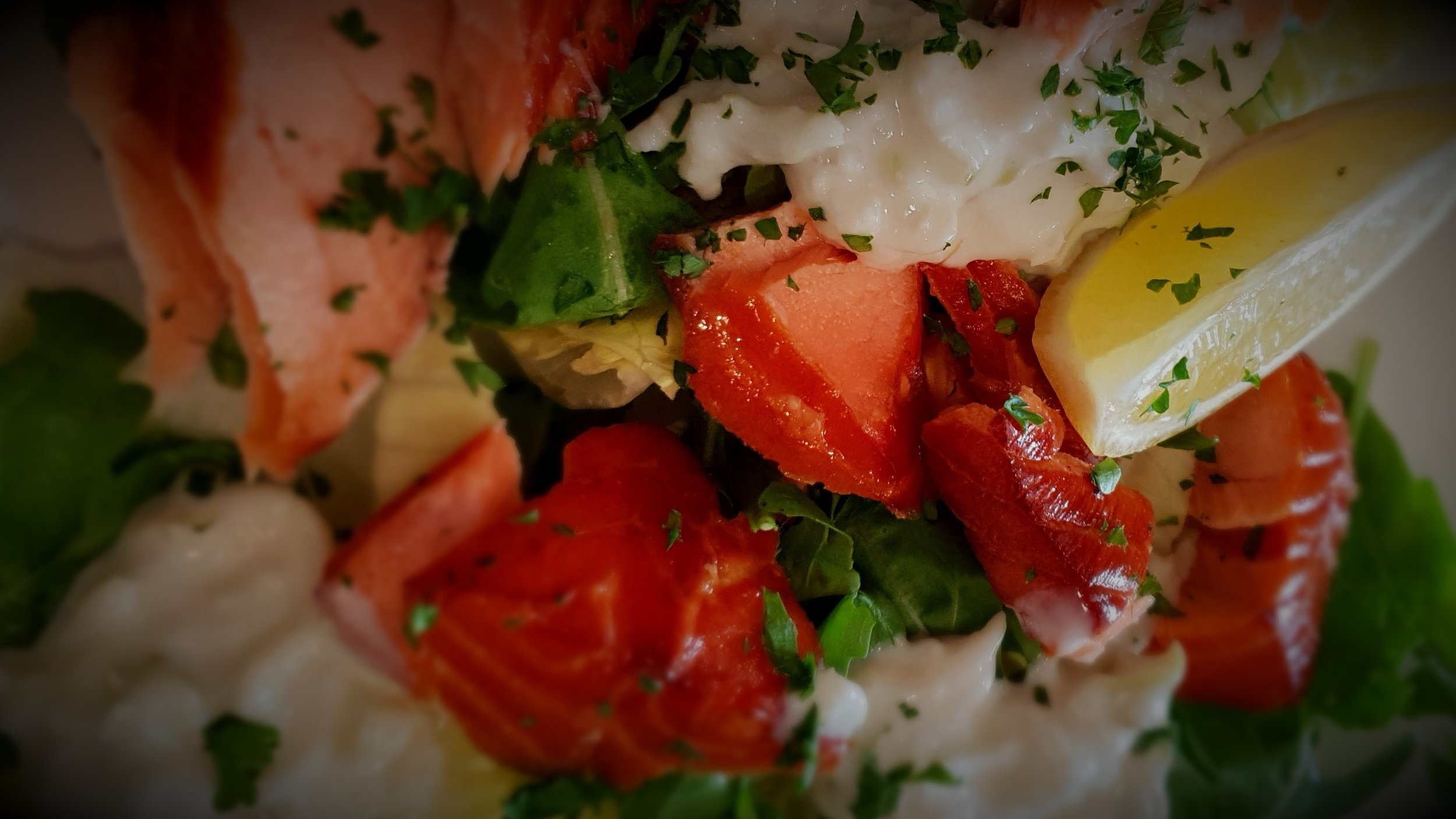hot smoked salmon horseradish apple Taylor's seafood and burger restaurant.jpg