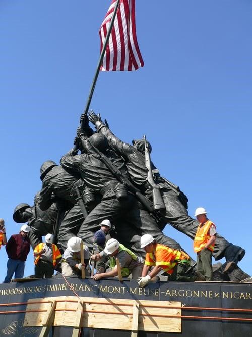 uS Marine Corps Memorial Iwo Jima - Historic Rehabilitation