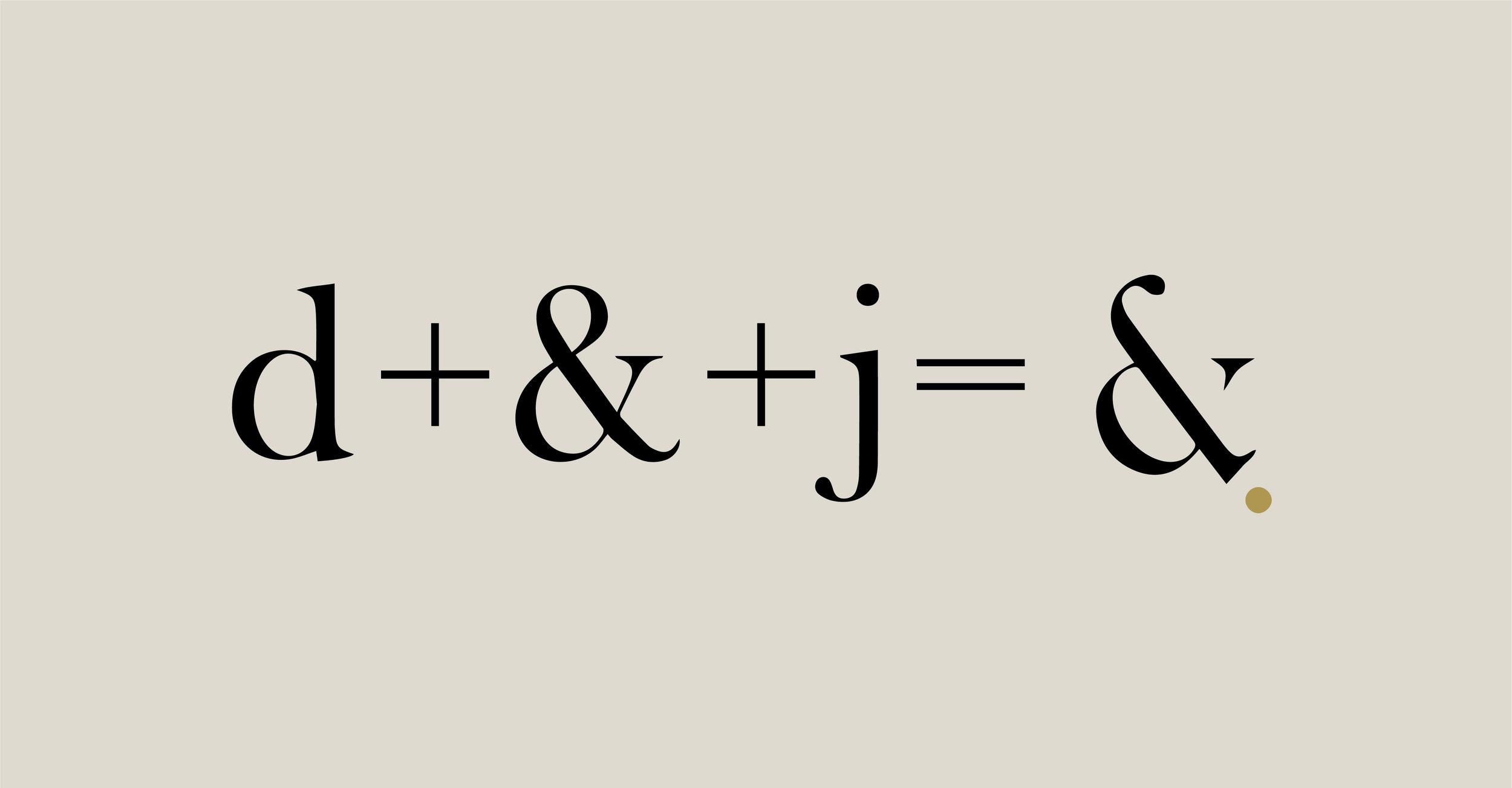 Logo design - Intet er overladt til tilfældighederne hos dahl & juul - Interiør. Dette afspejles også i vores logo hvor forbogstaverne