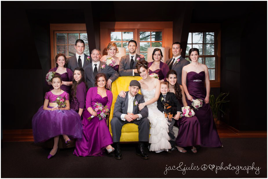 jacnjules photographs bridal party at ninety acres in peapack gladstone, nj