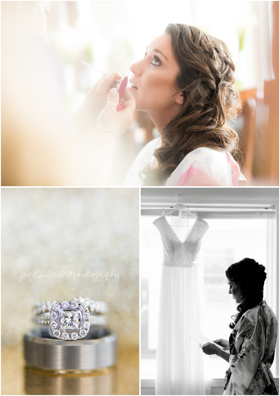 jacnjules photographs bride getting ready at The Stateroom in LBI