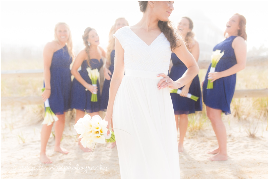 jacnjules photographs the bride at the beach in LBI on her wedding day