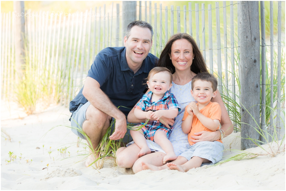 jacnjules photographs fun family on the beach in Lavallette NJ